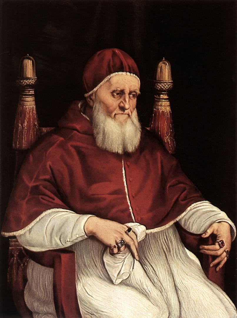 Rafael, Portret van Julius II, 1512, Galleria degli Uffizi, Florence