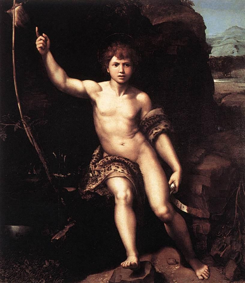 Rafael, St. Johannes de Doper in de Wildernis, c. 1518, Galleria degli Uffizi, Florence