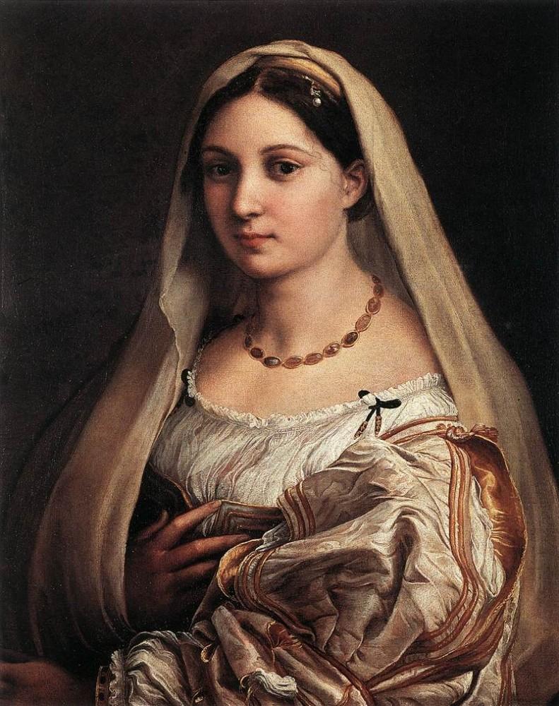 Rafael, Vrouw met een sluier (La Donna Velata), 1516, Galleria Palatina (Palazzo Pitti), Florence