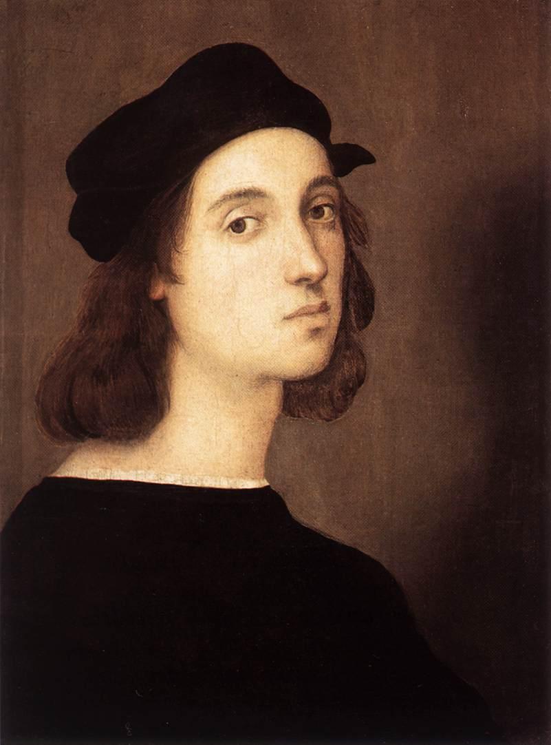Rafael, Zelfportret, 1506, Galleria degli Uffizi, Florence