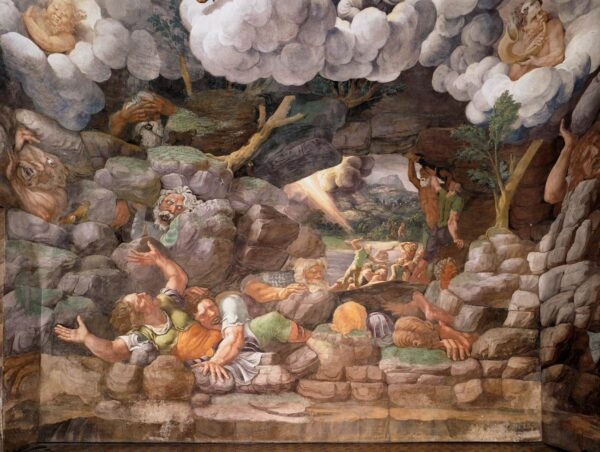 Giulio Romano, 1532-34, Fresco, Sala dei Giganti, Palazzo del Tè, Mantua