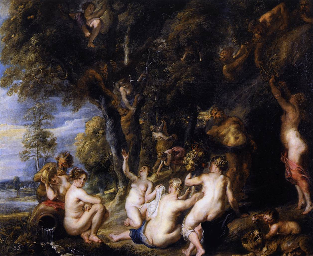 Peter Paul Rubens, Nimfen en Saters, Museo del Prado Madrid