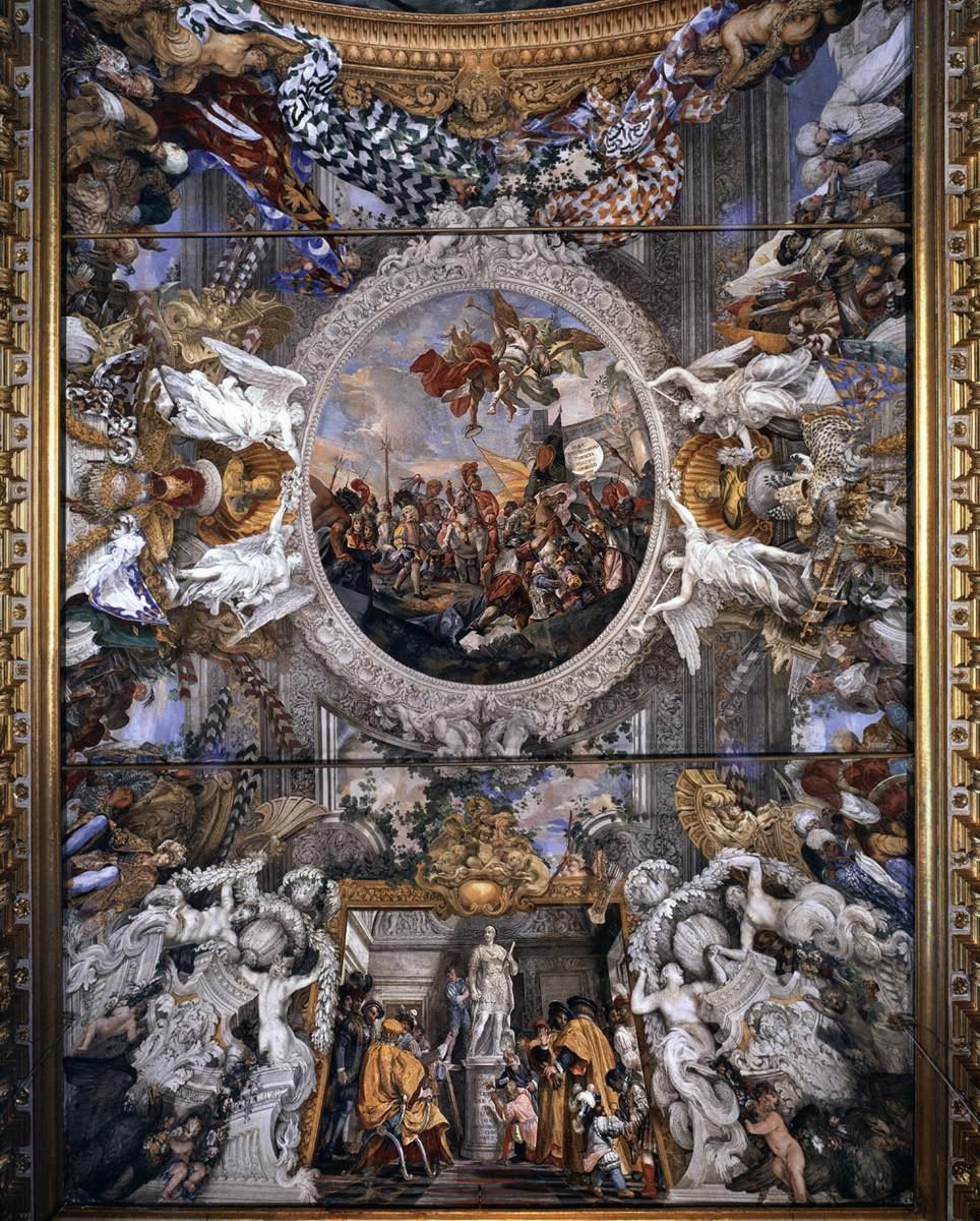 Filippo Gherardi, Triomf van de Held, Palazzo Colonna, Rome