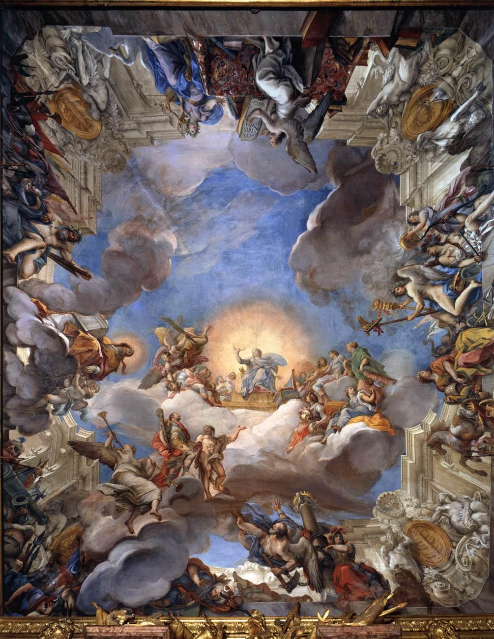 Giuseppe Bartolomeo Chiari (1654 Rome 1727), Apotheose van Marcantonio Colonna, 1698-1700, Fresco, Palazzo Colonna, Rome