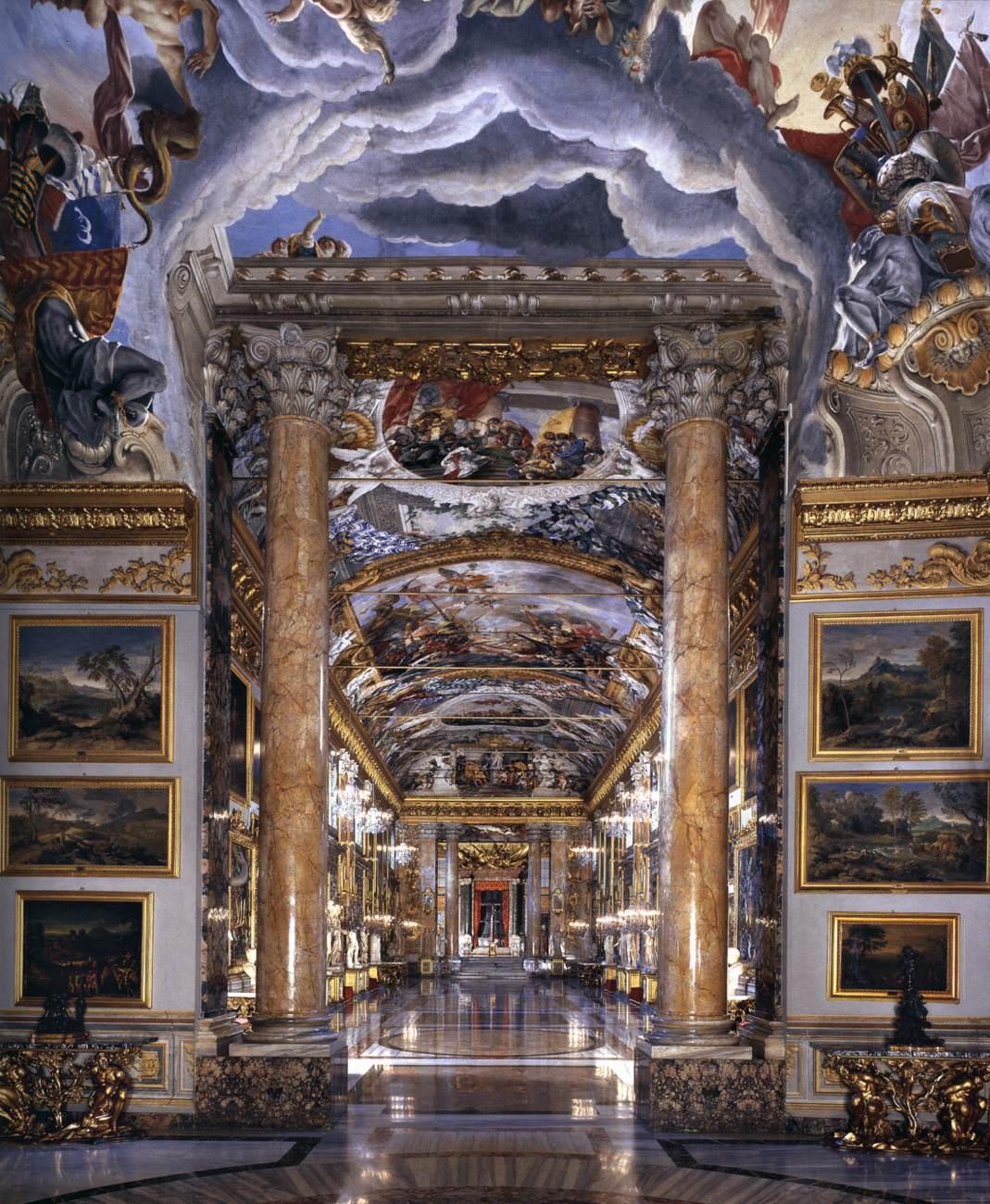 Johann Paul Schor, Grande Galleria, Palazzo Colonna, Rome
