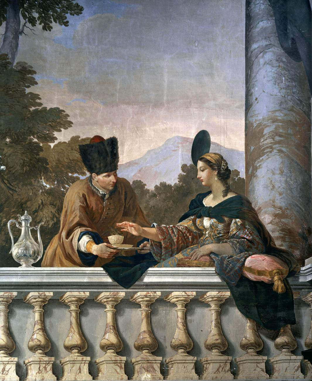 Stefano Pozzi (1699 Rome 1768), Wandversiering, 1758, Fresco, Palazzo Colonna, Rome
