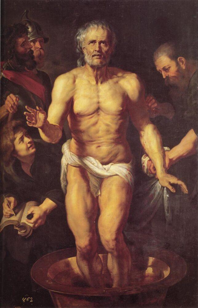 Peter Paul Rubens. De dood van Seneca, ca. 1614-1615. Munich, Alte Pinakothek.