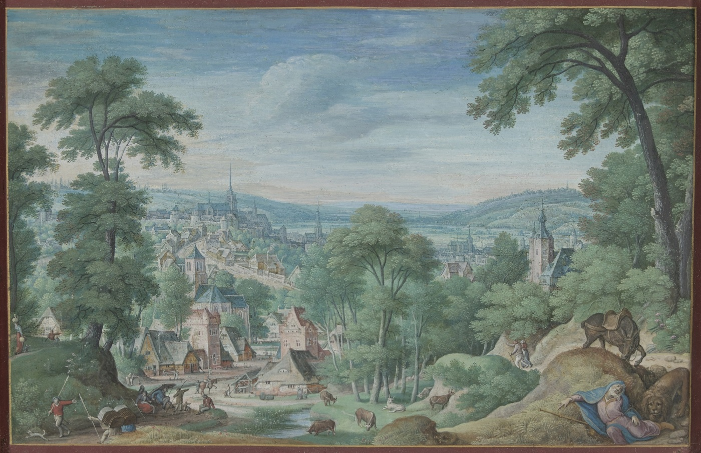 Hans Bol, Panoramic Landscape with the Body of the Holy Man of Judah , Rijksmuseum Amsterdam