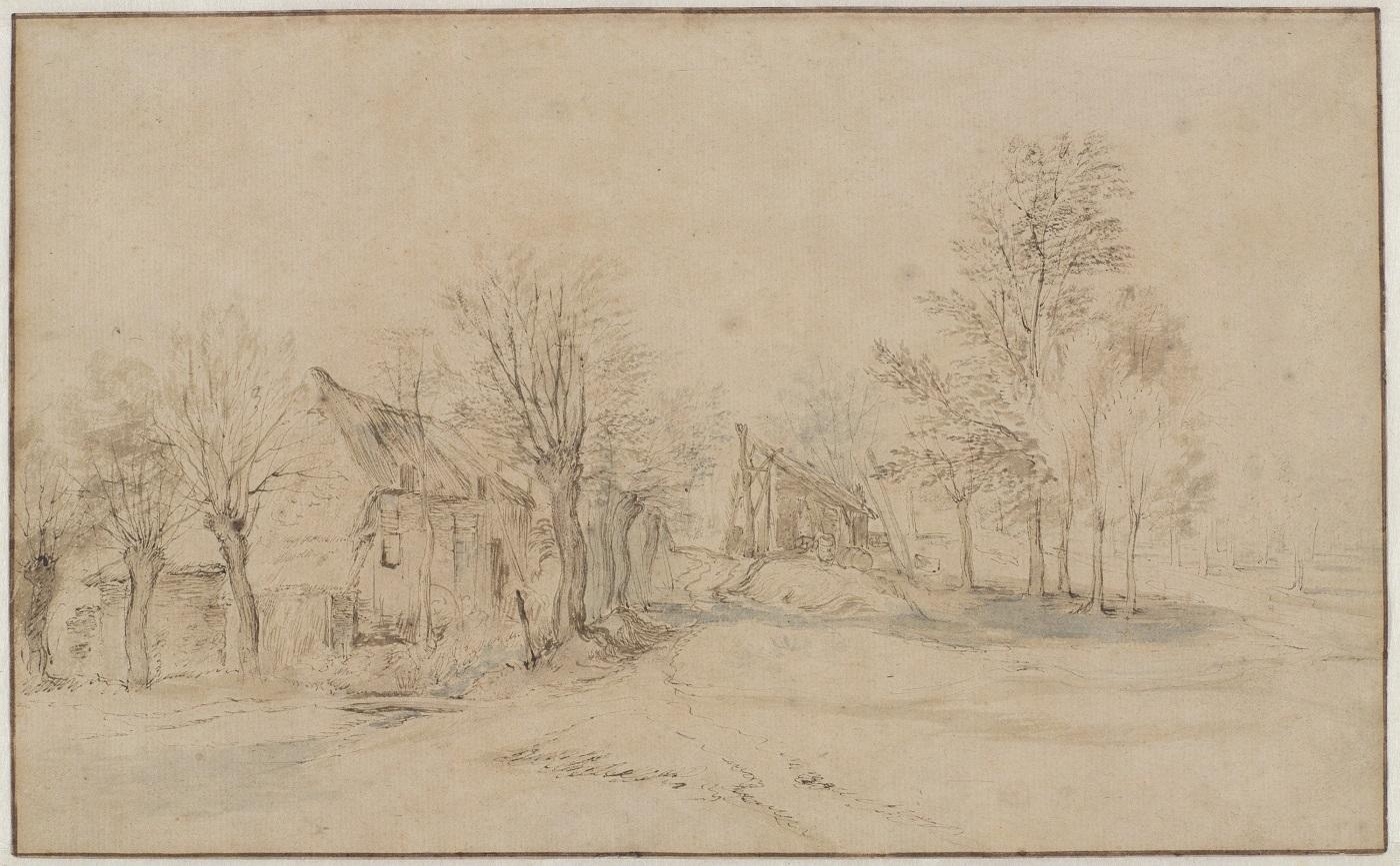 Jan Brueghel Boerderij in een landschap Rijksmuseum Amsterdam