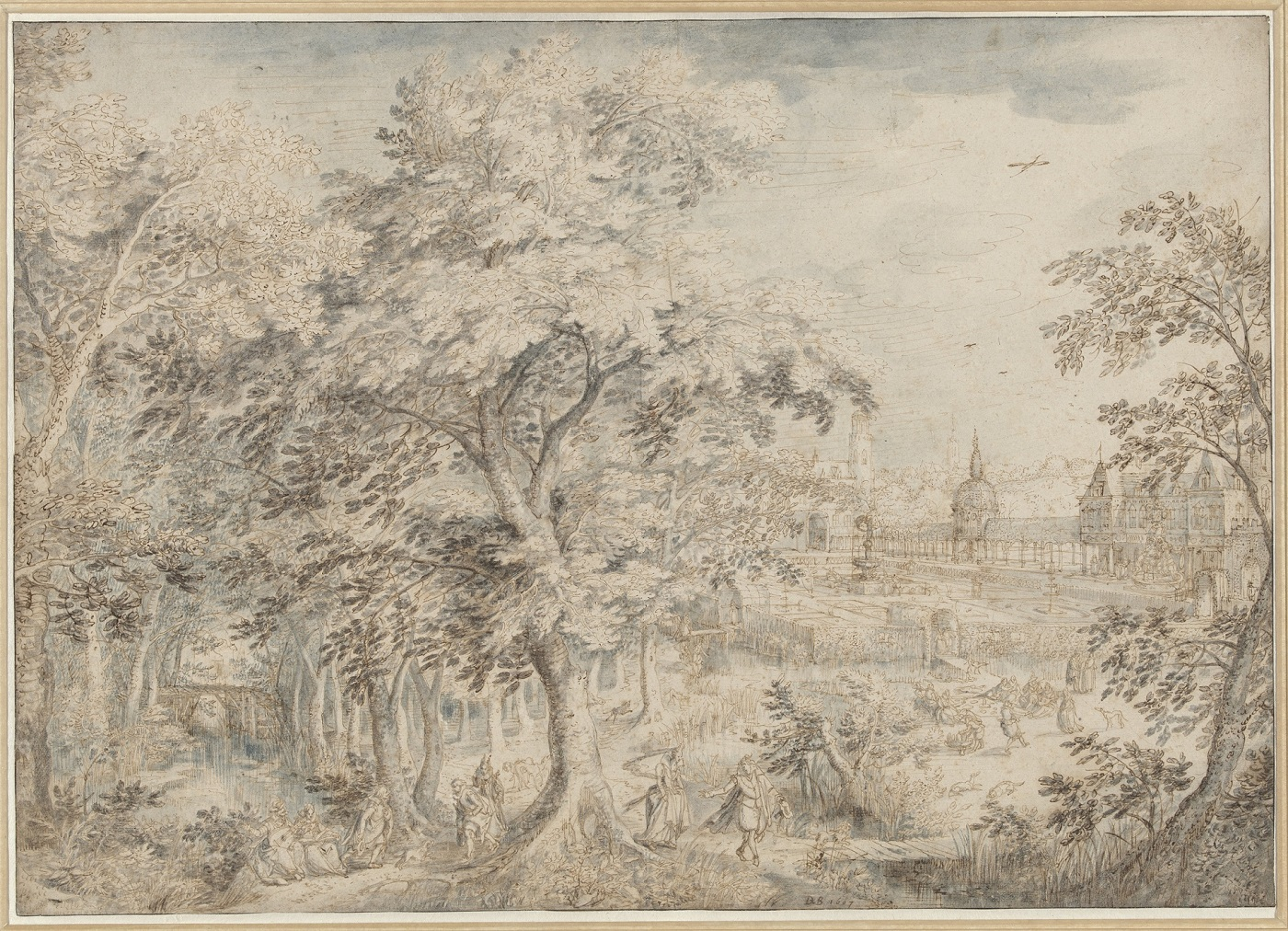David Vinckboons, Elegant Garden Party in a Wooded Landscape, with a Park in the Background, Rijksmuseum Amsterdam