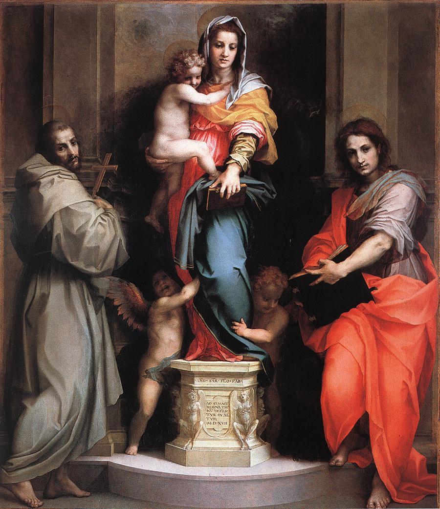 Madonna van de harpijen, Andrea del Sarto, Uffizi Florence