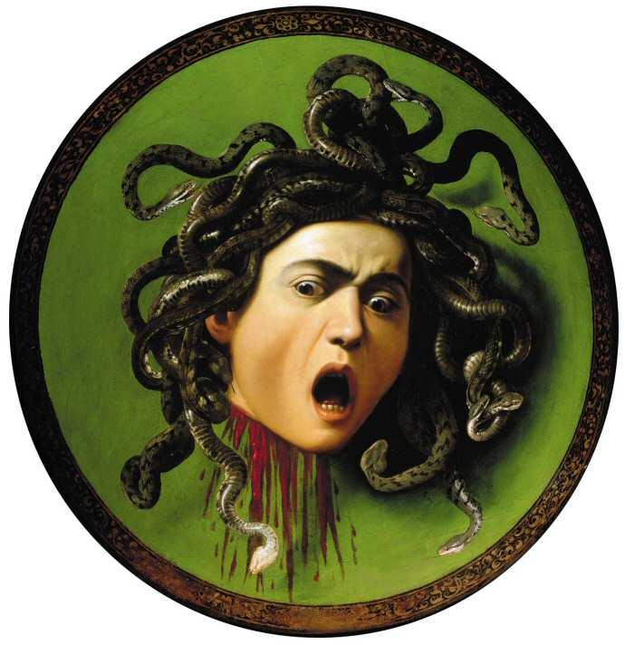 Michelangelo Merisi da Caravaggio: Medusa (1597/1598); Galleria Uffizi, Florence