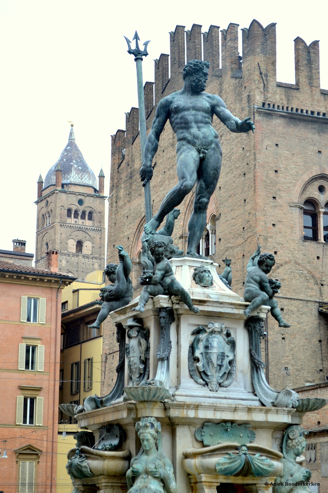 Piazza Nettuno met de fontein van Neptunes