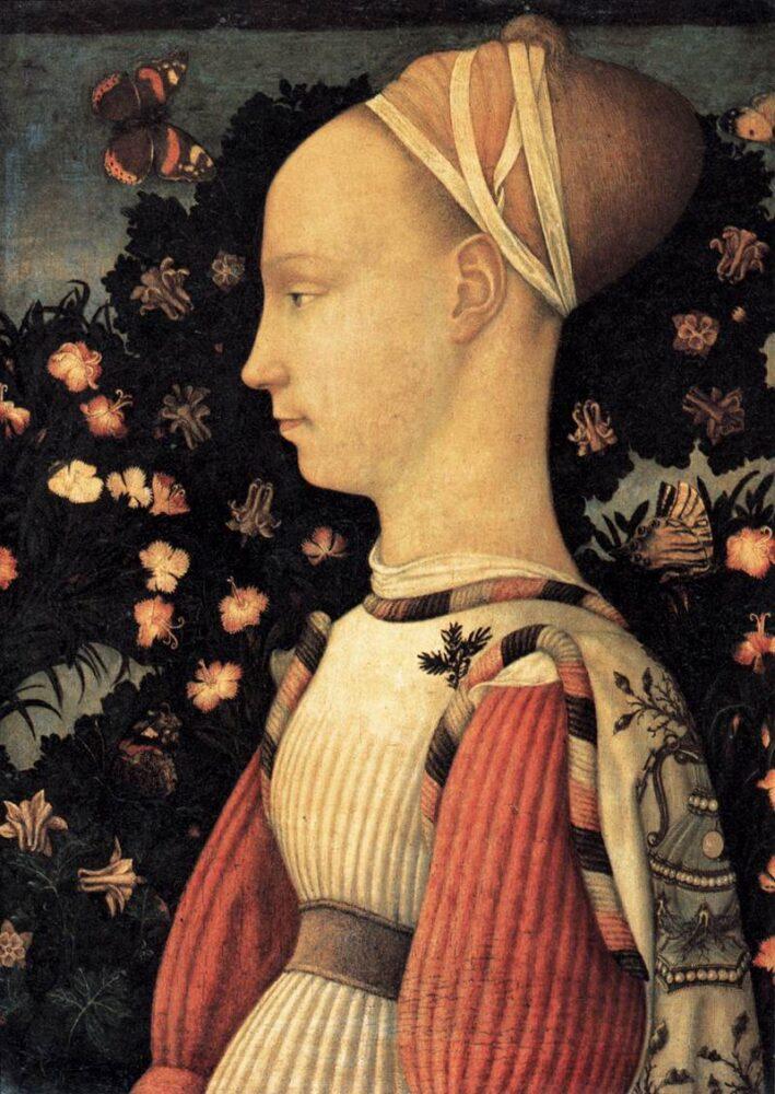 Pisanello, Portret van een prinses van het huis van Este, Musée du Louvre, Parijs