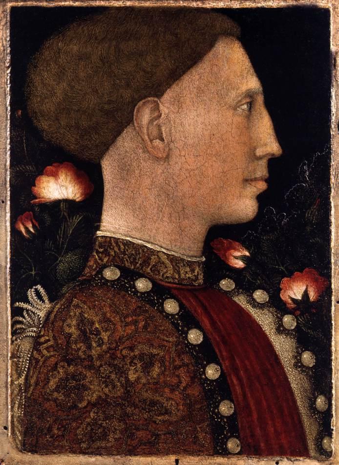 Pisanello, Portret van Leonello d'Este, Accademia Carrara, Bergamo