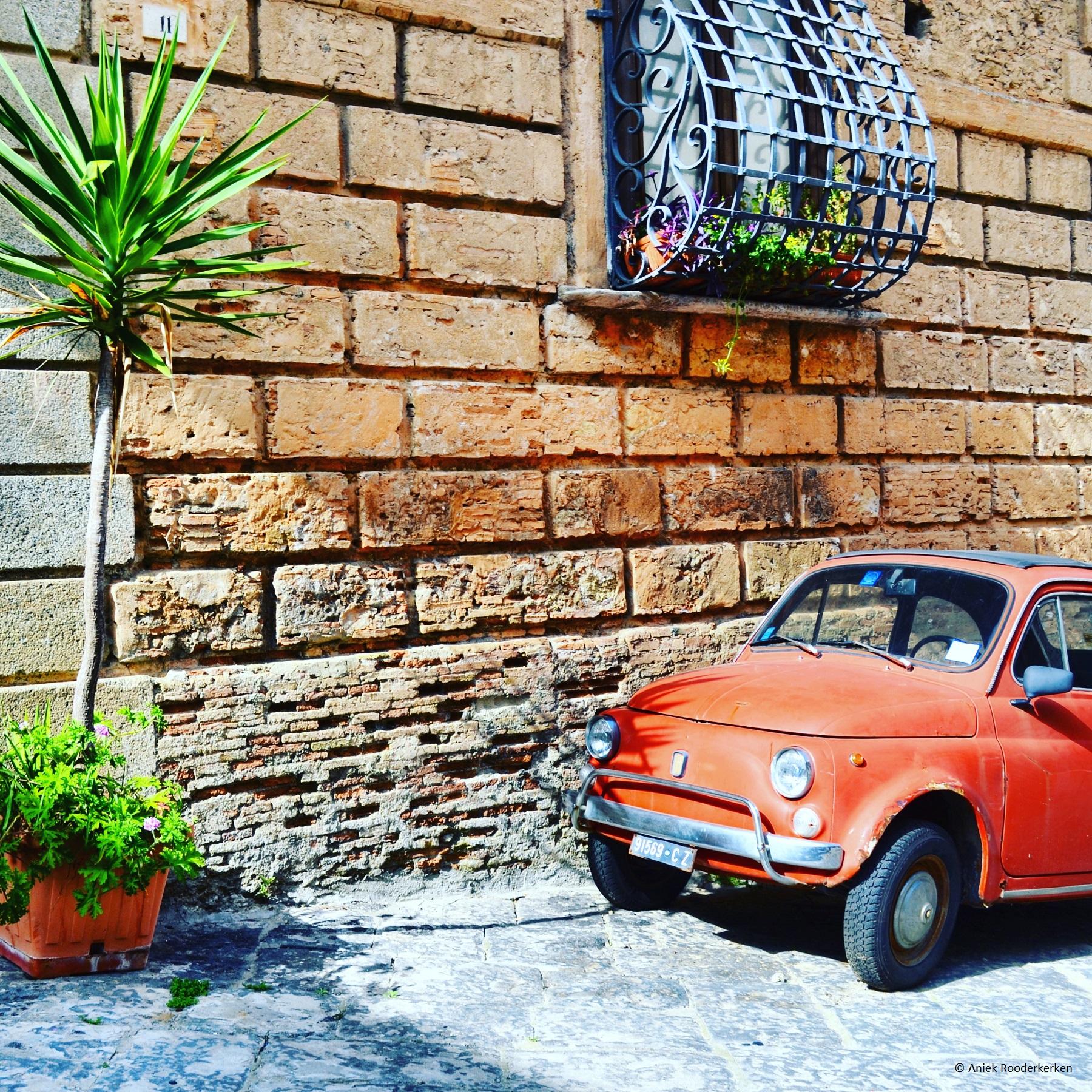 Fiat 500 in Pizzo, Calabrië