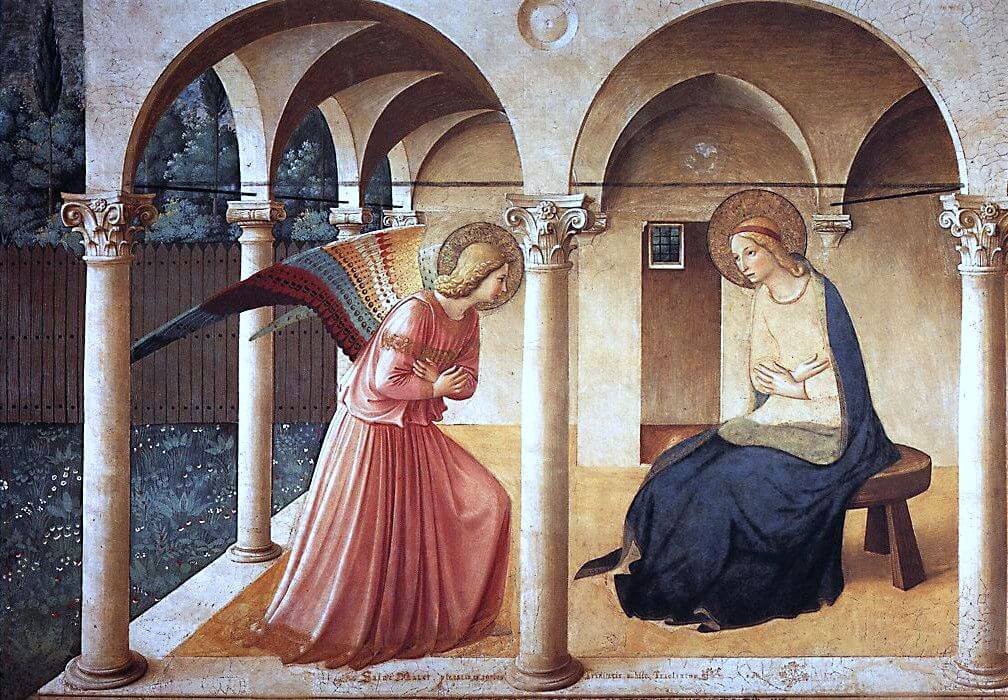 Annunciatie, Fra Angelico, Convento di San Marco, Florence, Italië