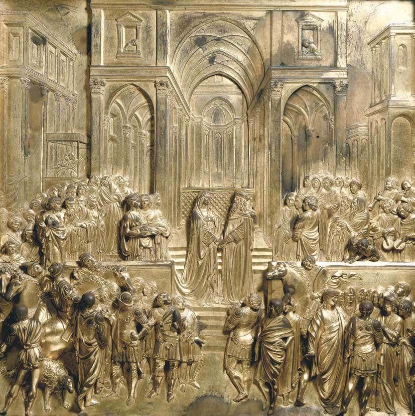Lorenzo Ghiberti, Solomon en de Koningin van Sheba