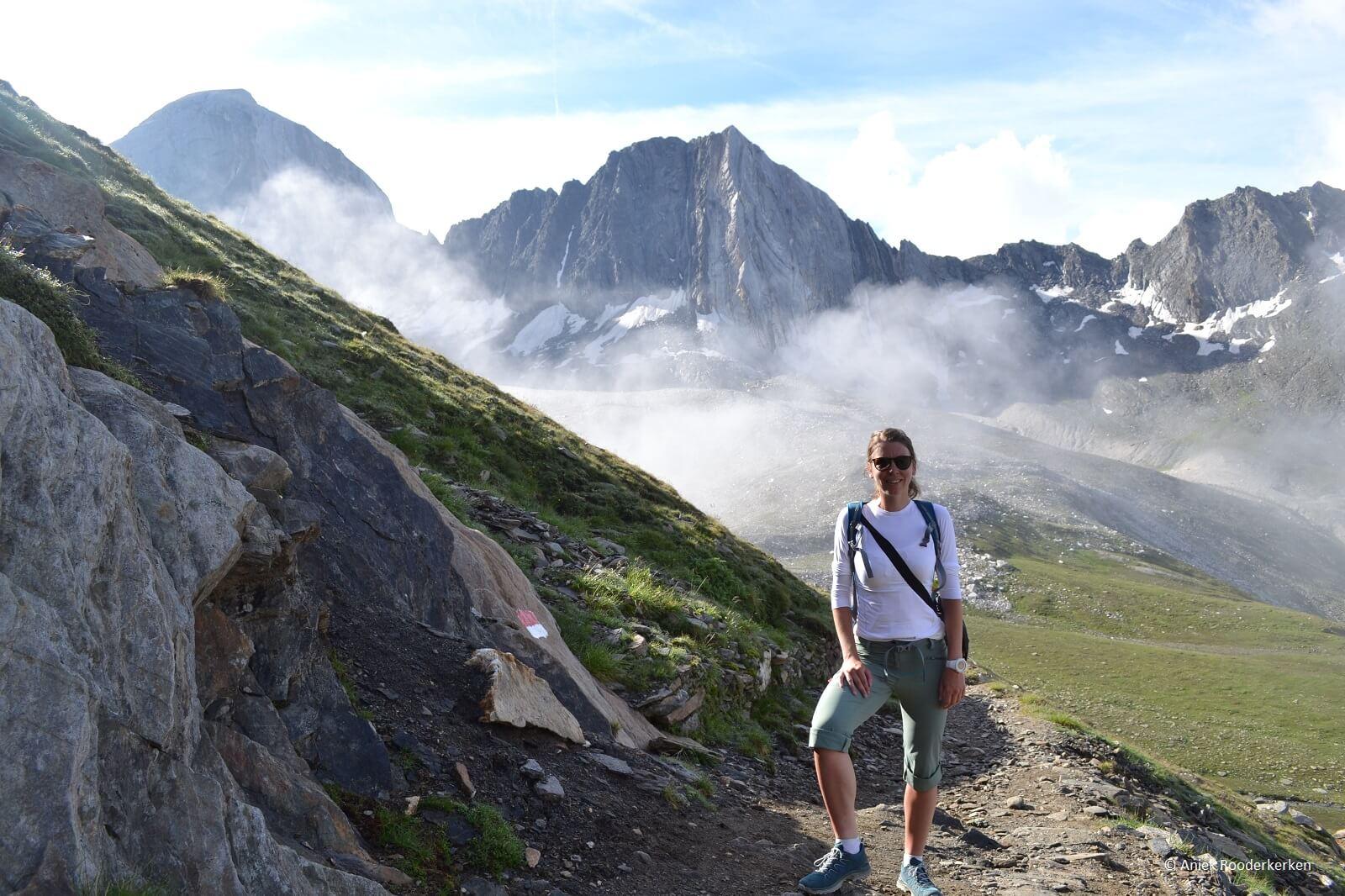 We hiken de Alta Via di Merano, Zuid-Tirol, Italië
