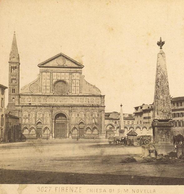De obelisken piazza Santa Maria Novella aan het eind van de negentiende eeuw