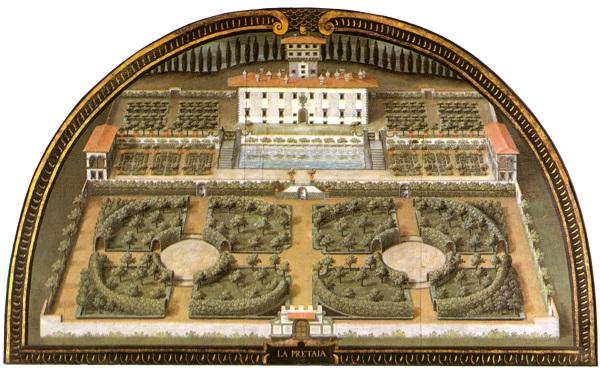 De Villa La Petraia door Justus Utens, in de Villa di Artimino