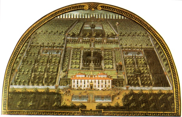 De Villa di Castello door Justus Utens, in de Villa di Artimino
