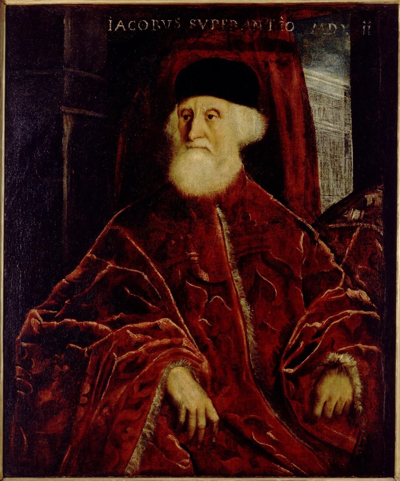 Tintoretto (Jacopo Robusti) Venetië 1519 – 1594 Venetië), Portret van procurator Jacopo Soranzo, ca. 1550, Galleria dell'Accademia in Venetië