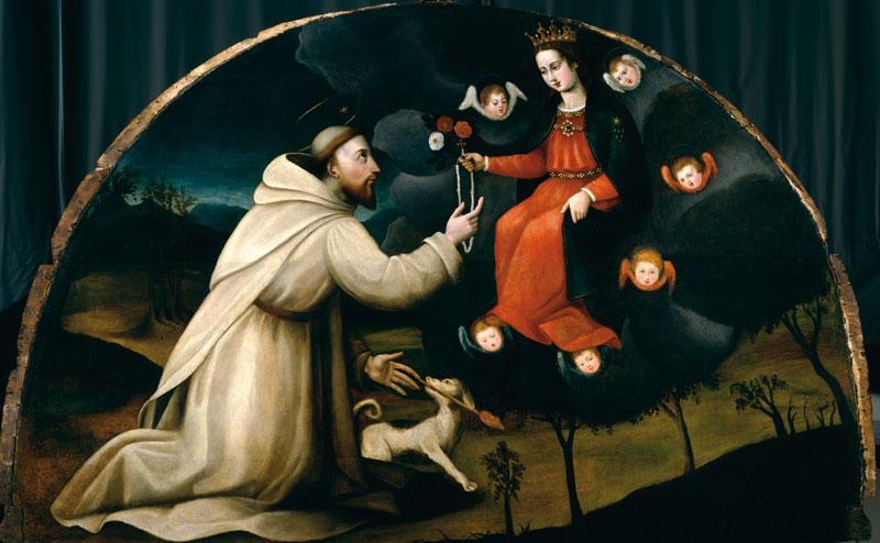 De Heilige Dominicus ontvangt de rozenkrans, Plautilla Nelli