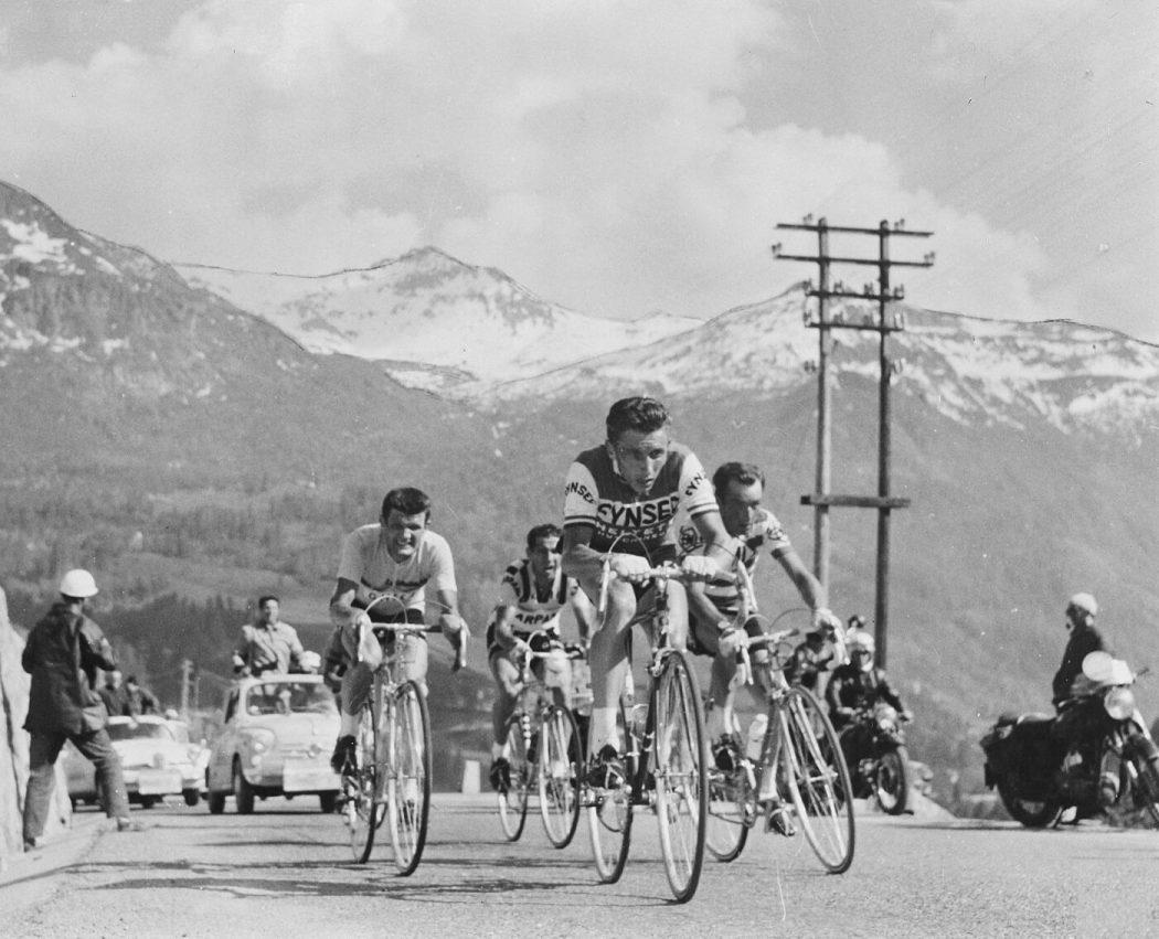Anquetil, Gaul, Hovenaars en Nencini in de Giro d'Italia van 1960