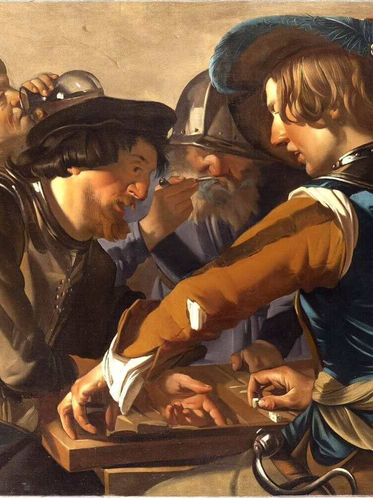 Centraal Museum Utrecht. Grappen en Grollen. Dirck van Baburen, De triktrakspelers, Ca. 1622