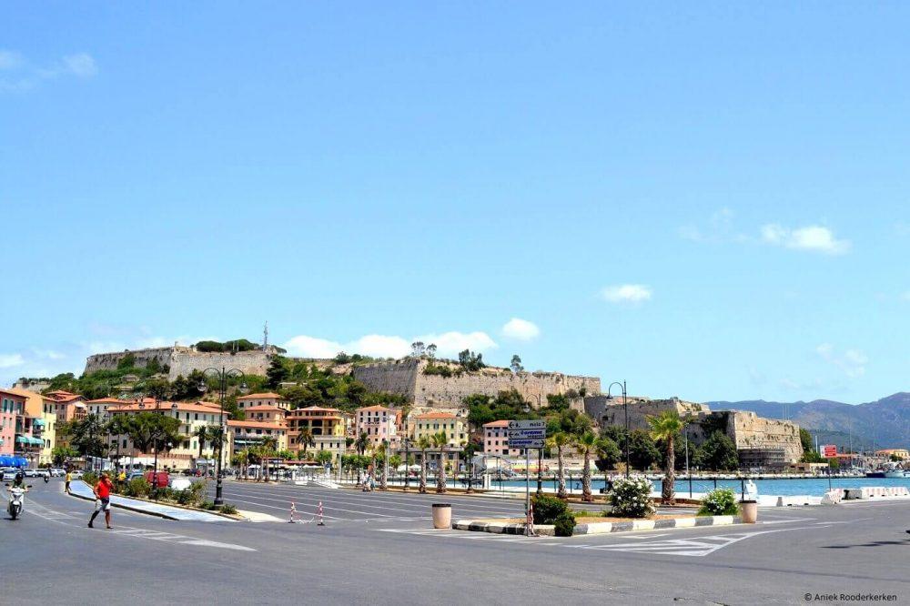 Aankomst op het Isola d'Elba