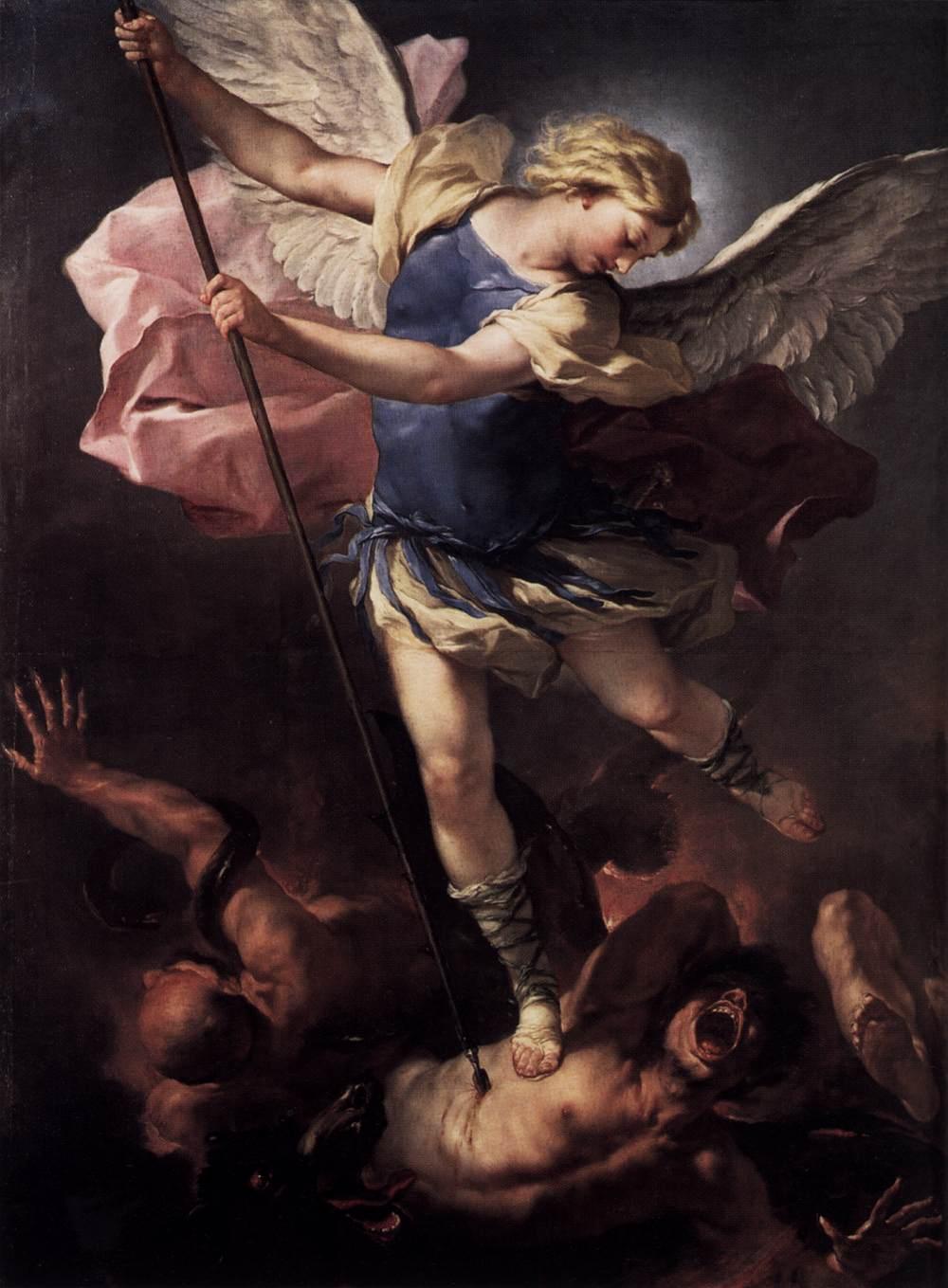 Luca Giordano, Aartsengel Michaël verslaat de rebelse engelen (1664), Staatliche Museen, Berlijn