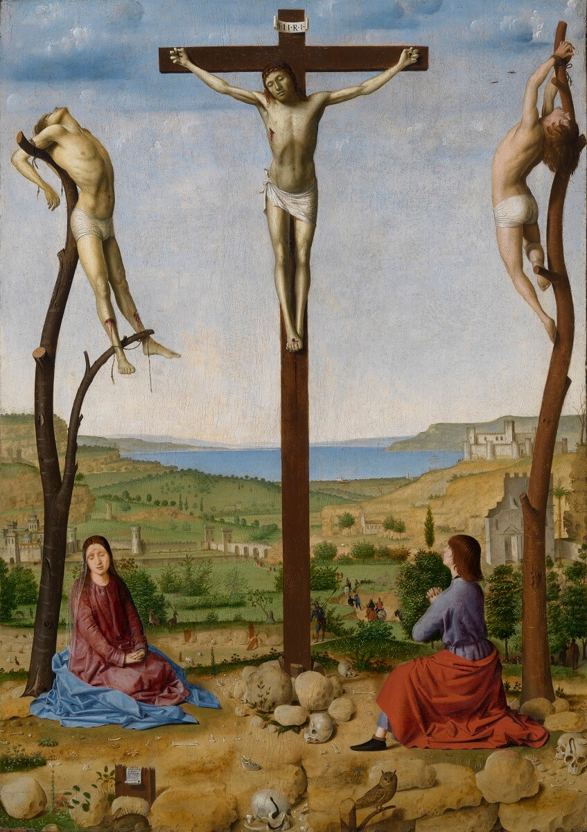 Antonello da Messina De kruisiging van Christus, 1475