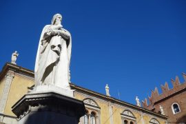 Dante in Verona, Piazza dei Signori