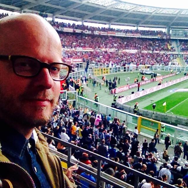 In Turijn tijdens een wedstrijd van Juventus