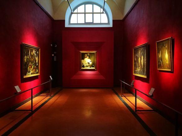 Sala Caravaggio: Bacchus. Uffizi Florence
