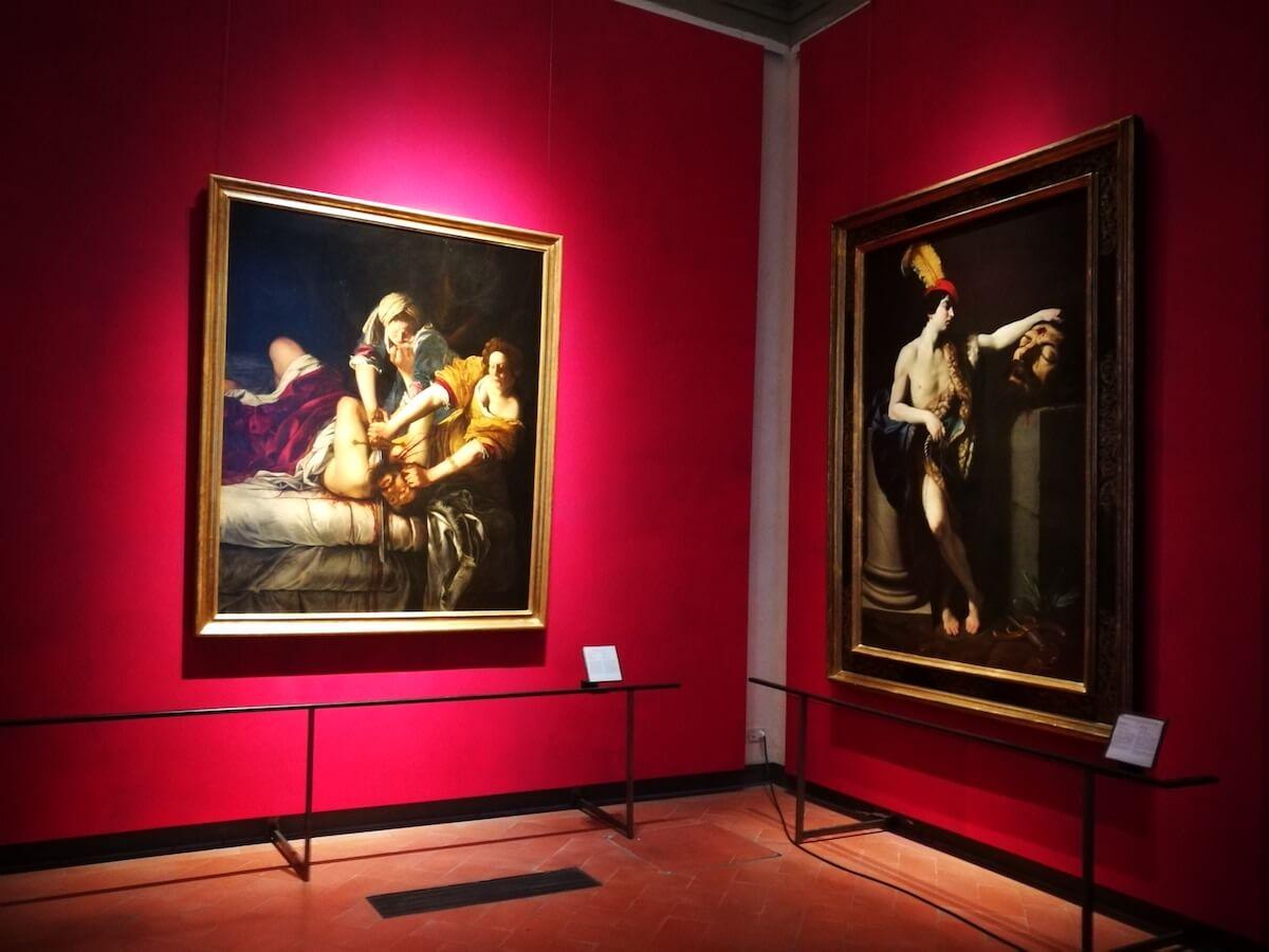 Caravaggio en Artemisia, Uffizi Florence