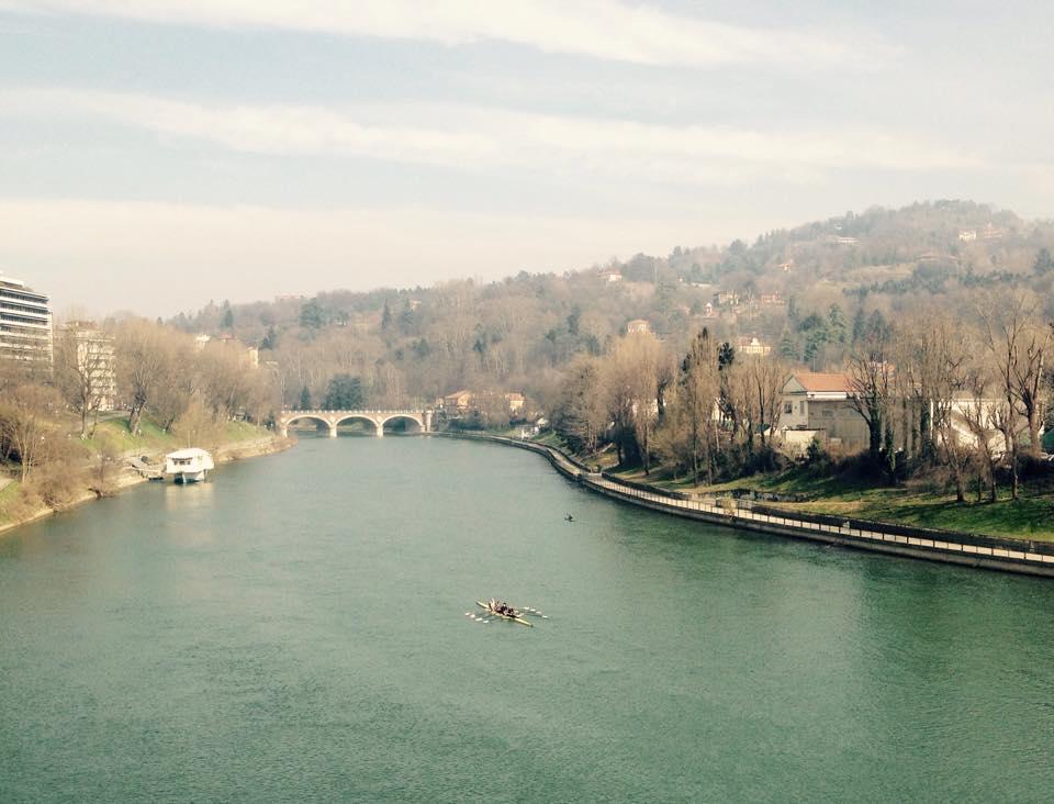 Uitzicht over Turijn tijdens het hardlopen