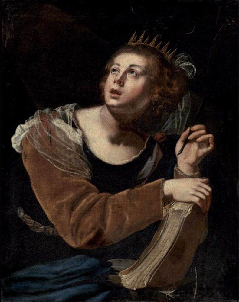 Artemisia Gentileschi, De Heilige Catherina van Alexandrië, 1640, Privécollectie