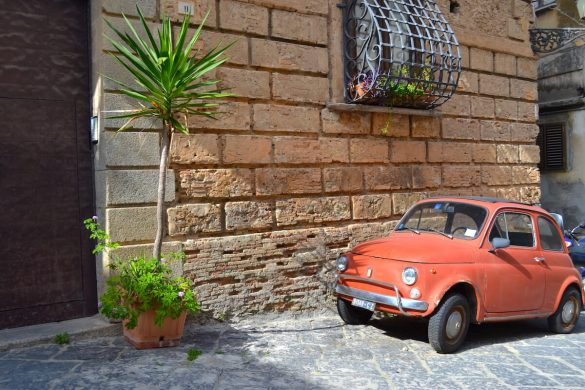 Fiat 500 in Zuid-Italië