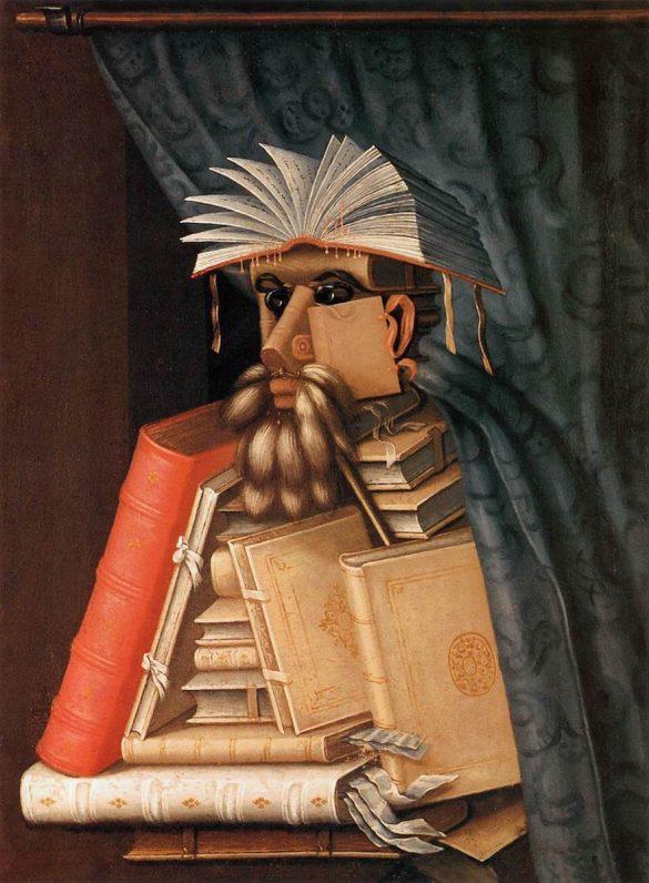 Giuseppe Arcimboldo, De bibliothecaris, c. 1566, Skoklosters Slott, Bålsta (Stockholm)