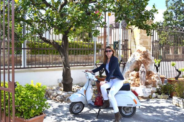 Een Vespa in Italië