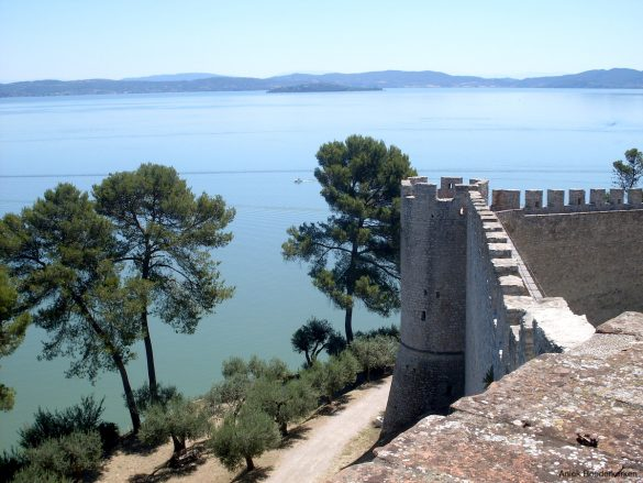 Castiglione del Lago aan het Lago Trasimeno