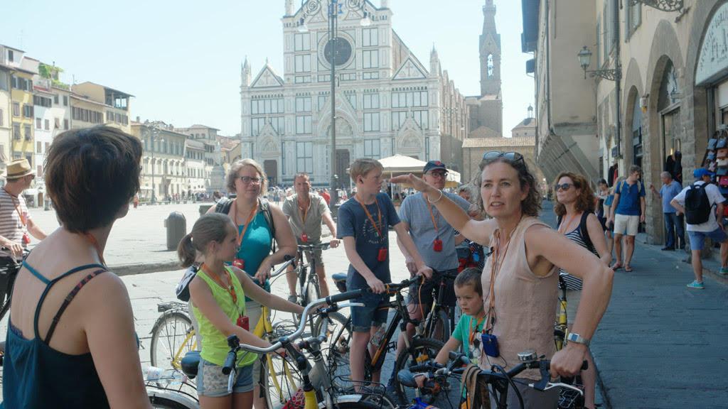 Fietsexcursie in Florence. Foto door KidsErOpUit.