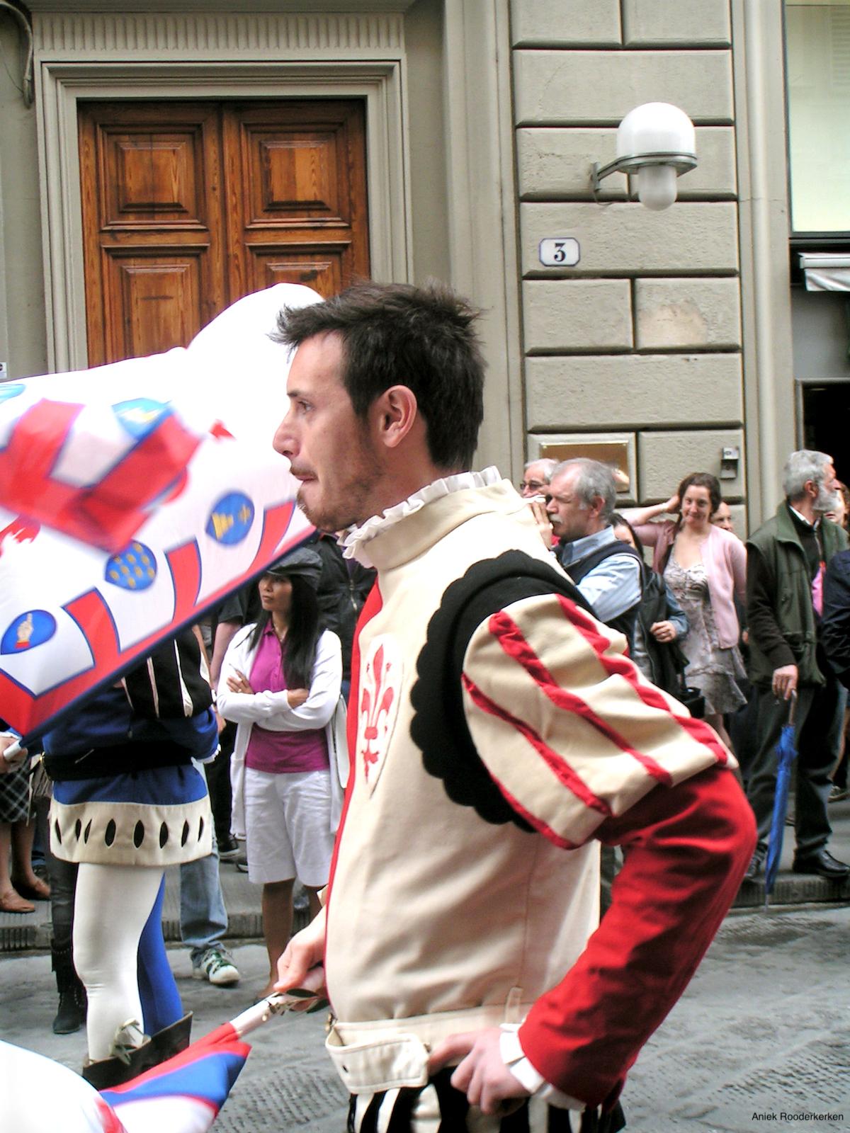 Vaandeldragers in Florence