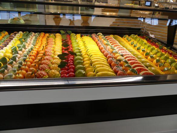 Prachtig gekleurd snoepfruit