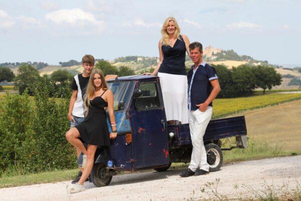 Familie Stroo van Casa Tartufo in Le Marche
