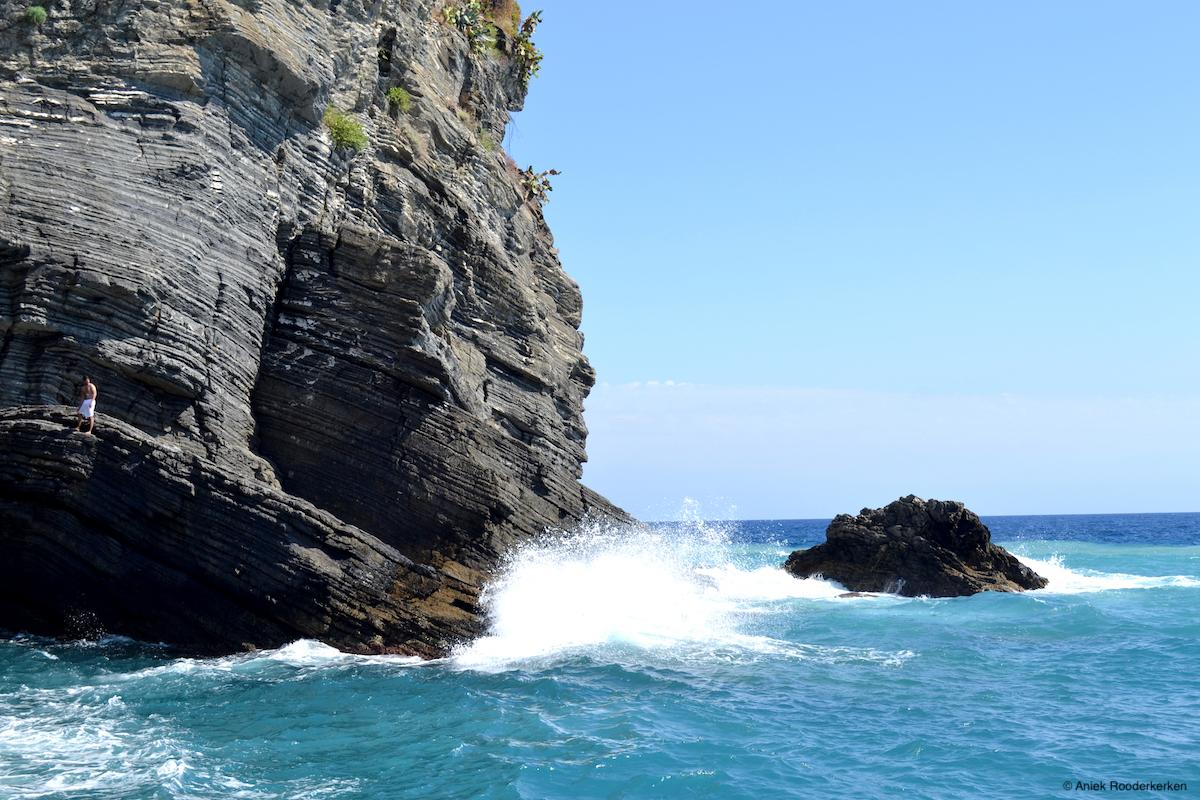 Rotskust bij de Cinque Terre