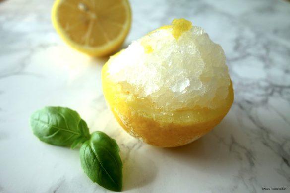 Recept voor citroensorbet