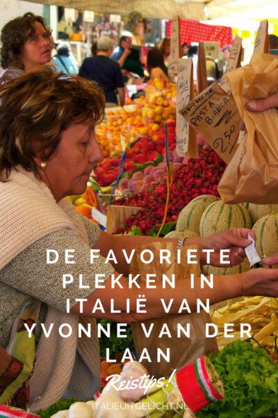 Dit zijn de favoriete plekken in Italië van Yvonne van der Laan